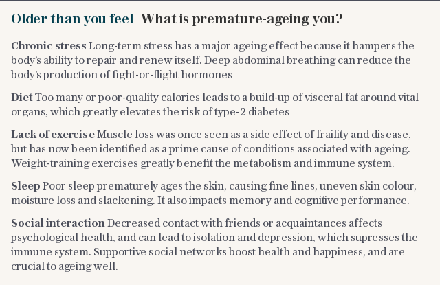 Older than you feel | What is premature-ageing you?