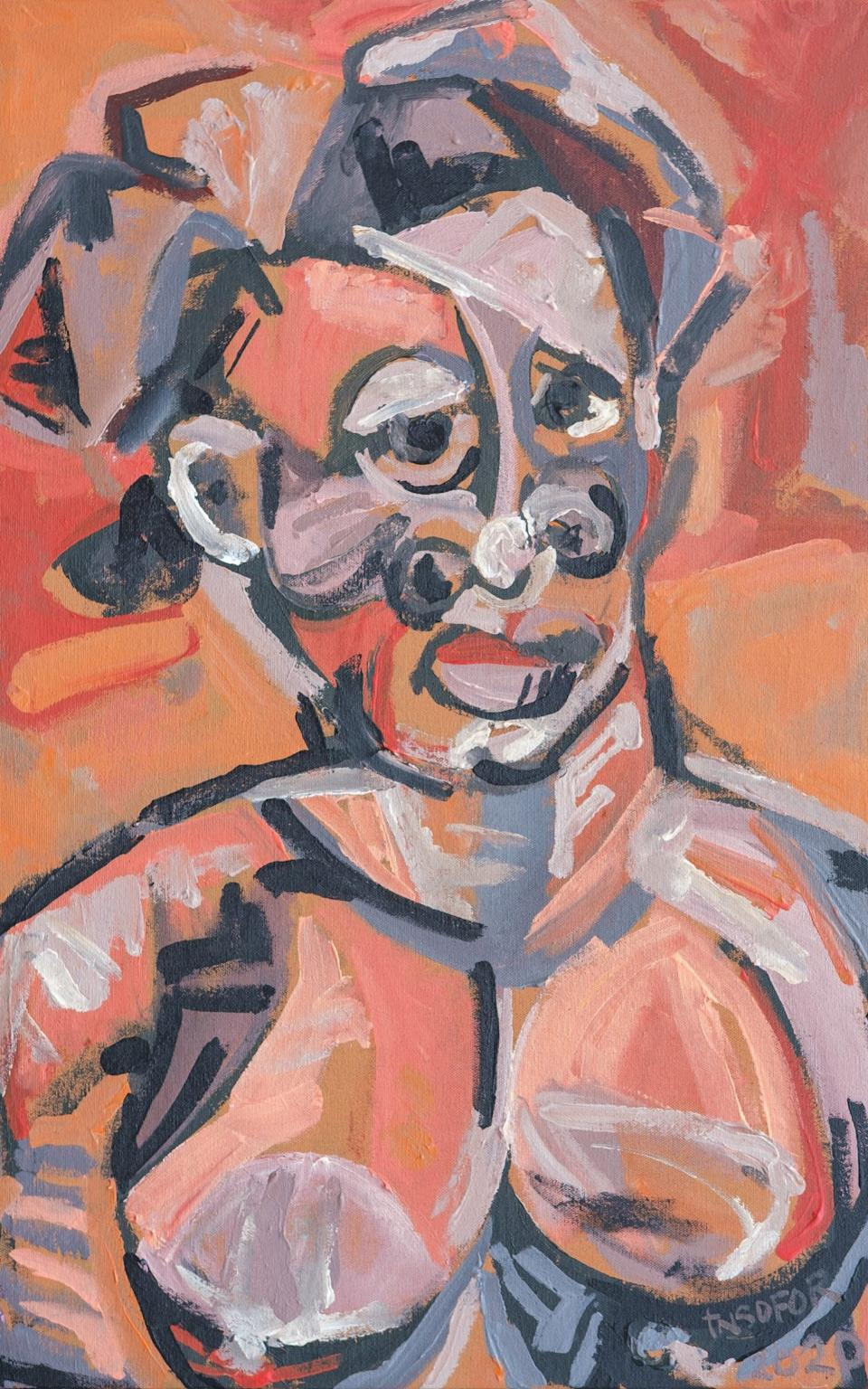 Anthony Nsofor, Nne (Before Braque, Picasso and co)