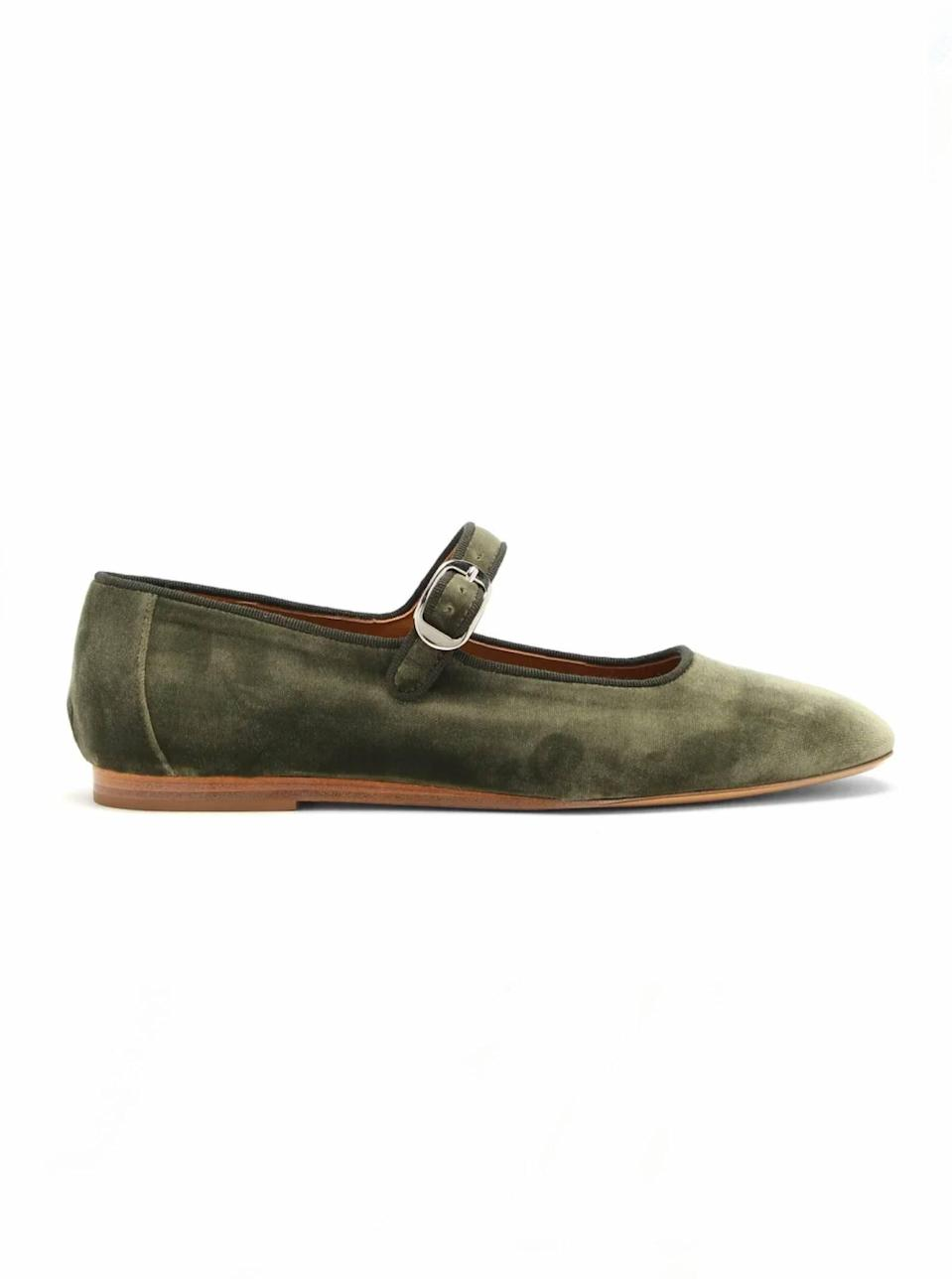 """$440, Matches Fashion. <a href=""""https://www.matchesfashion.com/us/products/Le-Monde-Beryl-Velvet-Mary-Jane-flats-1377901"""" rel=""""nofollow noopener"""" target=""""_blank"""" data-ylk=""""slk:Get it now!"""" class=""""link rapid-noclick-resp"""">Get it now!</a>"""