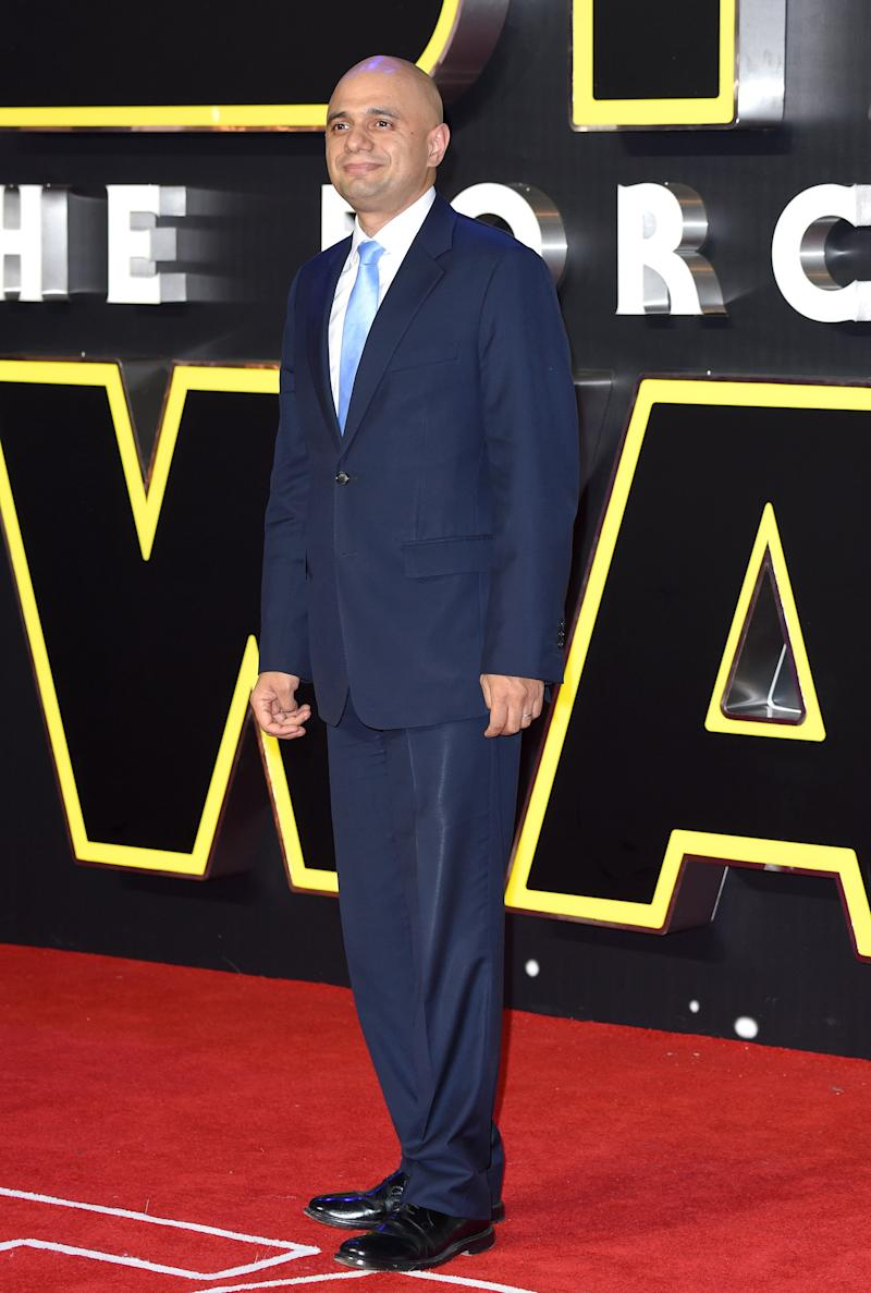 "Javid attends the European Premiere of ""Star Wars: The Force Awakens"" at Leicester Square on December 16, 2015 in London. (Photo by Karwai Tang/WireImage)"