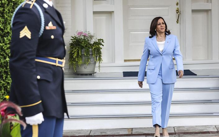 Harris will be heading abroad to lift her profile