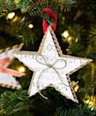 """<p>Cut the sheet music of your favorite Christmas carol into a star made secure with a sturdy backdrop, like cardboard.</p><p>Get the tutorial at <em><a href=""""http://www.goodhousekeeping.com/holidays/christmas-ideas/how-to/a17852/christmas-crafts-homemade-ornament/"""" rel=""""nofollow noopener"""" target=""""_blank"""" data-ylk=""""slk:Good Housekeeping"""" class=""""link rapid-noclick-resp"""">Good Housekeeping</a>.</em></p>"""