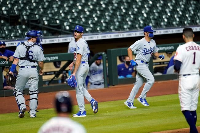 Benches clear as Dodgers beat Astros 5-2