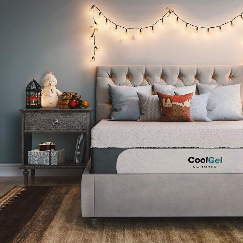 Classic Brands Cool Gel 1.0 Ultimate Gel Memory Foam 14-Inch Mattress with Bonus Two Pillows, Queen. (Photo: Amazon)