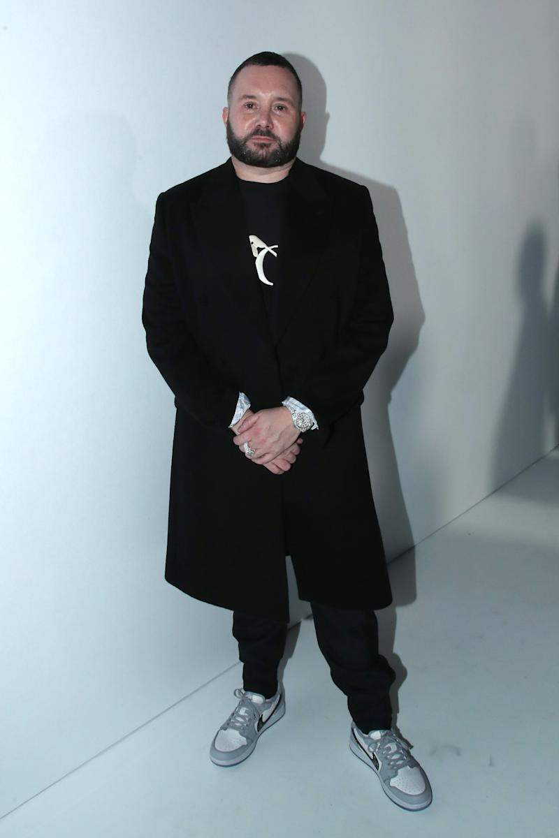 PARIS, FRANCE - JANUARY 17: Stylist Kim Jones poses after the Dior Homme Menswear Fall/Winter 2020-2021 show as part of Paris Fashion Week on January 17, 2020 in Paris, France. (Photo by Bertrand Rindoff Petroff/Getty Images)