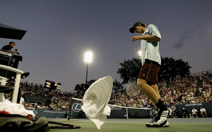 Andy Murray at the US Open in 2005. - GETTY IMAGES