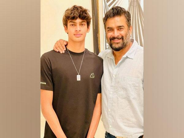 R. Madhavan with his son (Image source: Instagram)