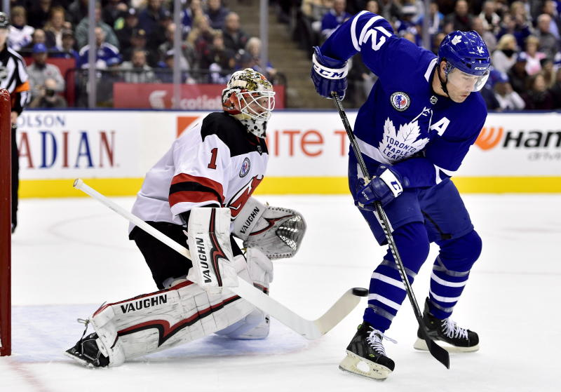 7515779dc Maple Leafs beat Devils 6-1 in Hall of Fame Game