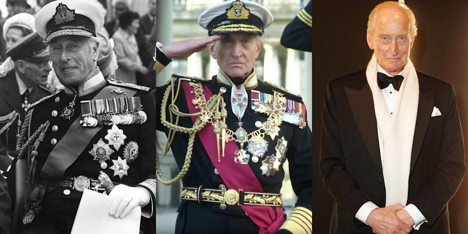 "<p><em>Game of Thrones</em> fans may know Charles Dance as the intimidating patriarch Tywin Lannister, but the actor will appear on <em>The Crown</em>'s third season as Lord Mountbatten, known by his family as ""Uncle Dickie."" He was both Prince Philip's uncle and Queen Elizabeth II's distant cousin. </p>"