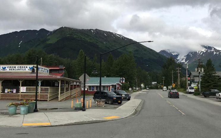 Girdwood, pictured here, is known for its skiing and scenic vistas. (Photo: Andrew Bahl/Yahoo News)