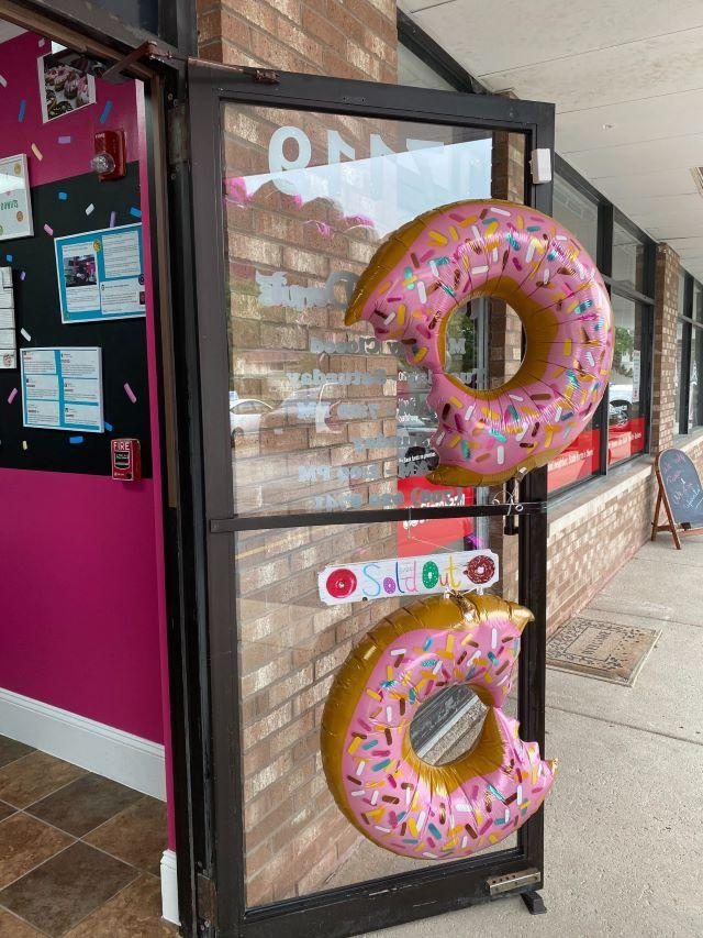 Frosted Donuts sells out their first day open. (Yasmeen Sheikah/Patch)