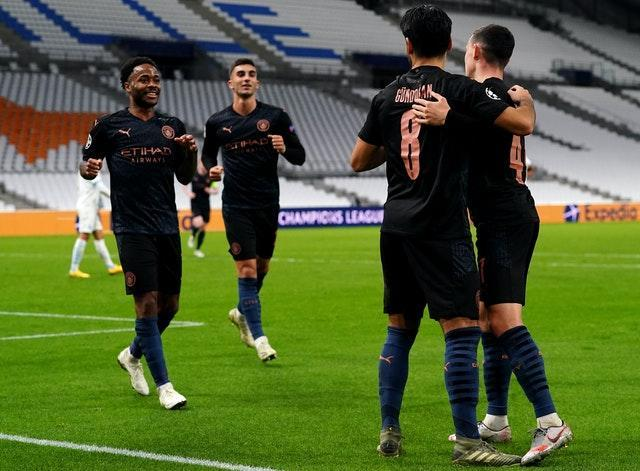 City eased to victory at the Stade Velodrome