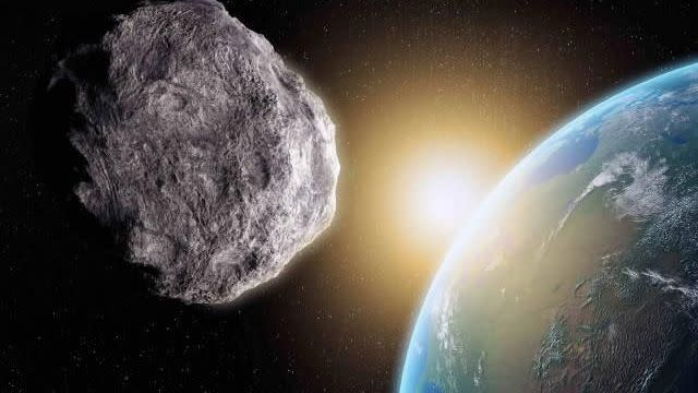 The asteroid is mapped to travel between Earth and the moon in 2135.