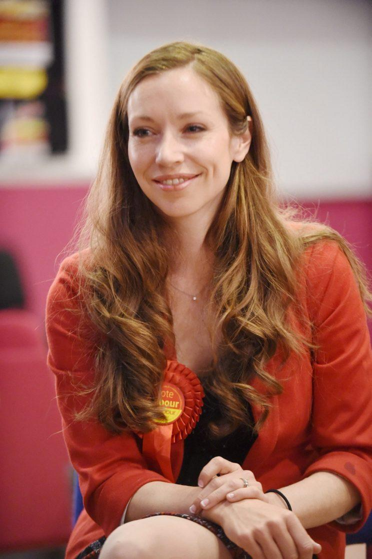 Catherine Atkinson is expecting her second child in July and standing as the MP for Erewash [Photo: SWNS]