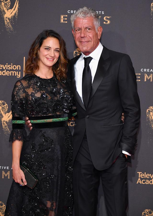 Asia Argento and Anthony Bourdain in September 2017. (Photo: Neilson Barnard/Getty Images)