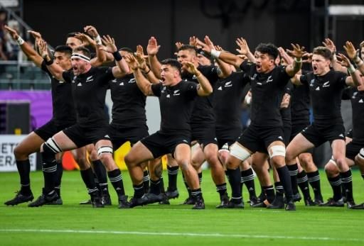 New Zealand's All Blacks perform the haka before a World Cup match in Japan last year, now they may face the 13-a-side world champions later this year