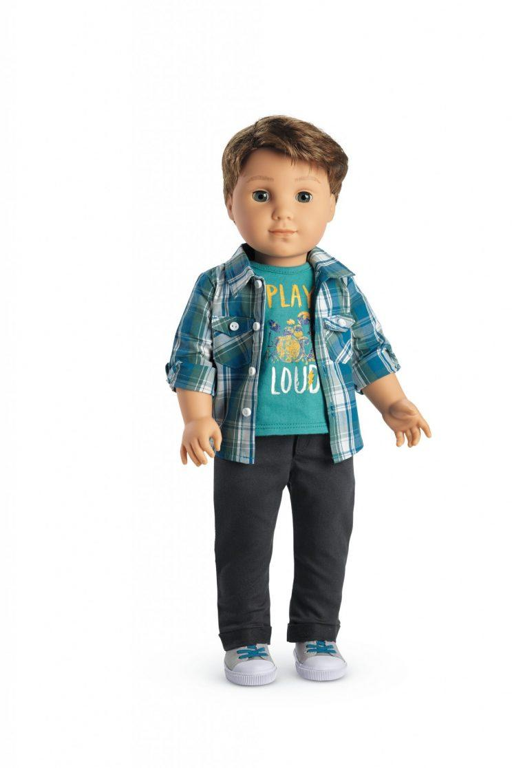 Logan, the first boy doll in the American Girl collection