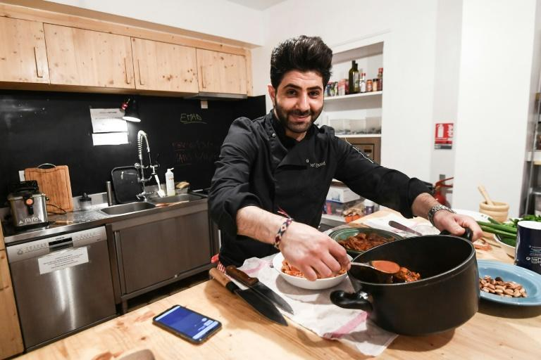 Shoshara set up in Paris in 2015 offering Syrian cuisine and has a list of clients, from wedding planners to theatres and galleries (AFP Photo/Alain JOCARD)