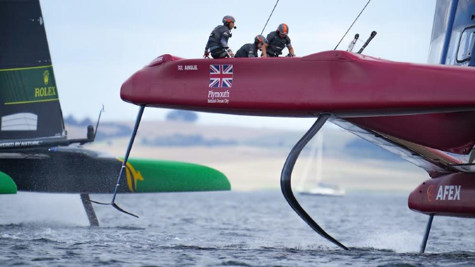 The British team set a new speed record last weekend on its foiling yacht. - Credit: Courtesy SailGP