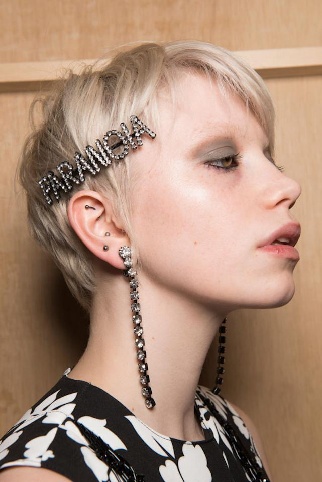 <p>If you haven't got yourself an ironic slogan hair accessory yet then get on it!</p>