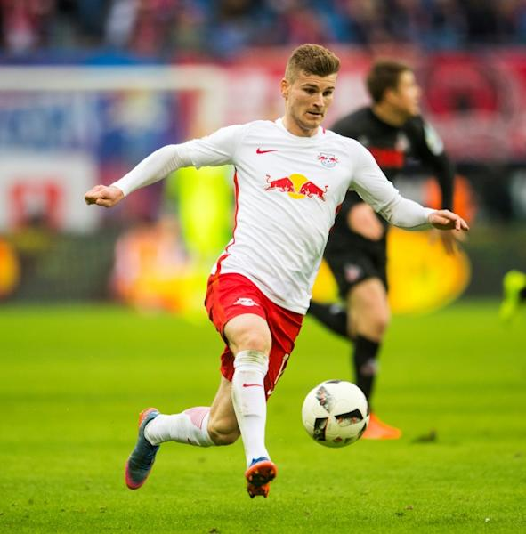 Joachim Loew is set to give a national debut to Leipzig's striker Timo Werner (pictured), 21, a rising star in German football