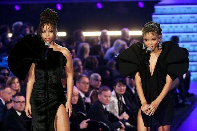 Chloe x Halle performing at the Grammys