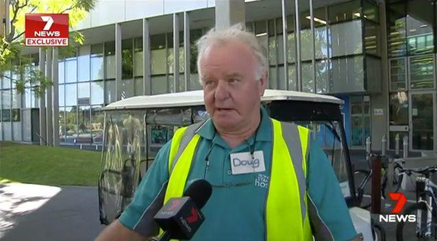 Doug Bignell helped Ms Holloway by getting her to the emergency department. Source: 7 News