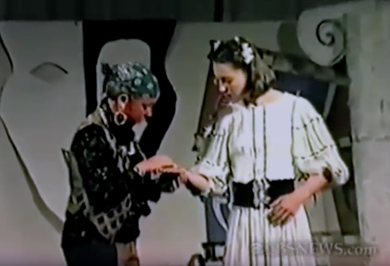 Kate's fortune was foretold in a high school play. Photo: Youtube/ABC News