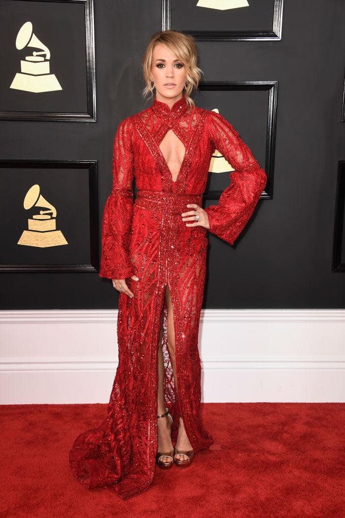 Carrie Underwood in Elie Madi. (Photo: Getty Images)