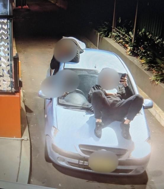 A P-plate driver has been hit with a. $1070 and incurred eight demerit points, for their stunt at a McDonalds drive-thru in Castle Hill. Source: Facebook/Traffic and Highway Patrol Command - NSW Police Force
