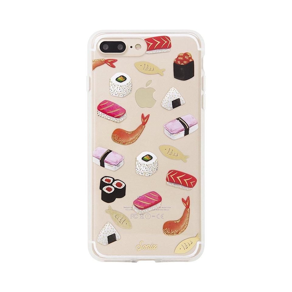 "<p>You don't have to love sushi to love the <a href=""https://www.popsugar.com/buy/Sonix-Sushi-Case-113255?p_name=Sonix%20Sushi%20Case&retailer=amazon.com&evar1=news%3Aus&evar9=44473996&evar98=https%3A%2F%2Fwww.popsugar.com%2Fnews%2Fphoto-gallery%2F44473996%2Fimage%2F44474002%2FSonix-Sushi-Case&prop13=desktop&pdata=1"" rel=""nofollow noopener"" target=""_blank"" data-ylk=""slk:Sonix Sushi Case"" class=""link rapid-noclick-resp"">Sonix Sushi Case</a> ($36) – you just have to love absolutely adorable accessories. </p>"