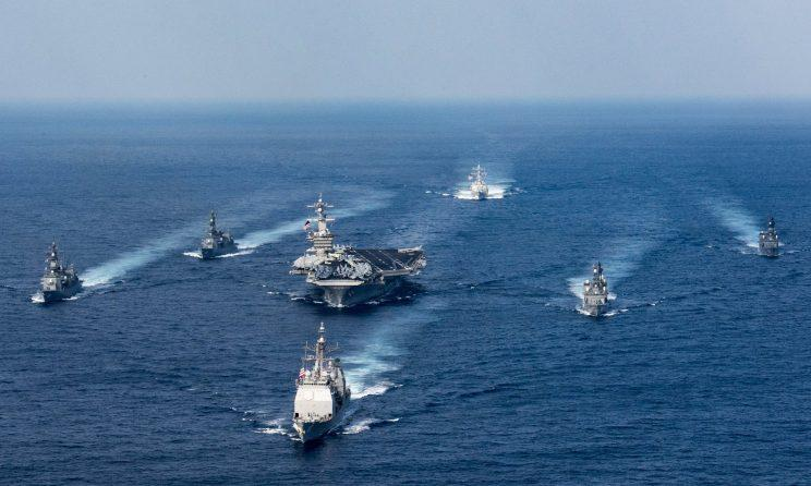 US warships head towards North Korea (US Navy)