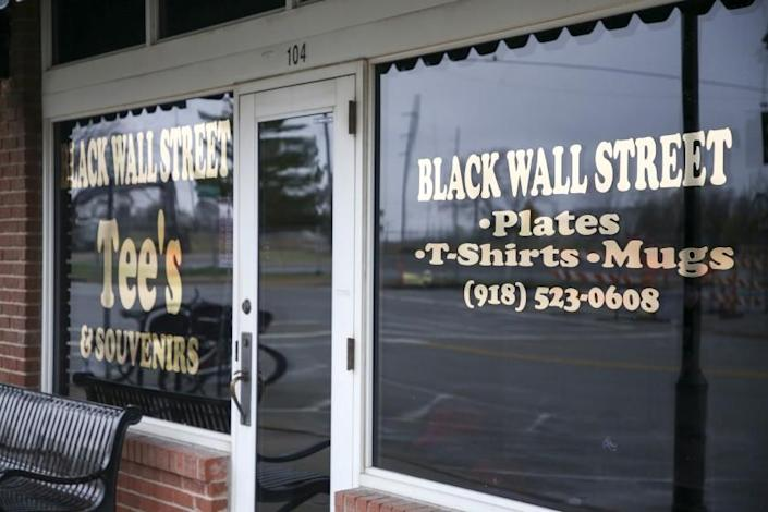 """Trump was disinvited to Tulsa's Greenwood District — once known as the Black Wall Street and site of a race massacre in 1921— when he arrives in Oklahoma for a campaign rally Saturday. <span class=""""copyright"""">(Ian Maule / Tulsa World)</span>"""
