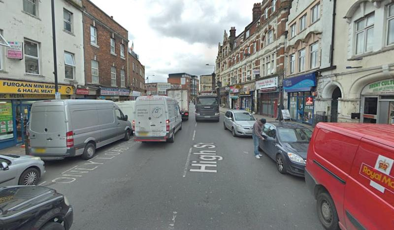 The victim was stabbed repeatedly in High Street, Harlesden, on Tuesday night (Google)