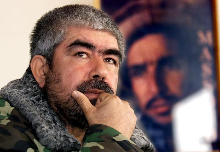 Ethnic Uzbek warlord Abdul Rashid Dostum is galvanising legions of devout followers and erstwhile foes for battle (AFP Photo/WEDA)