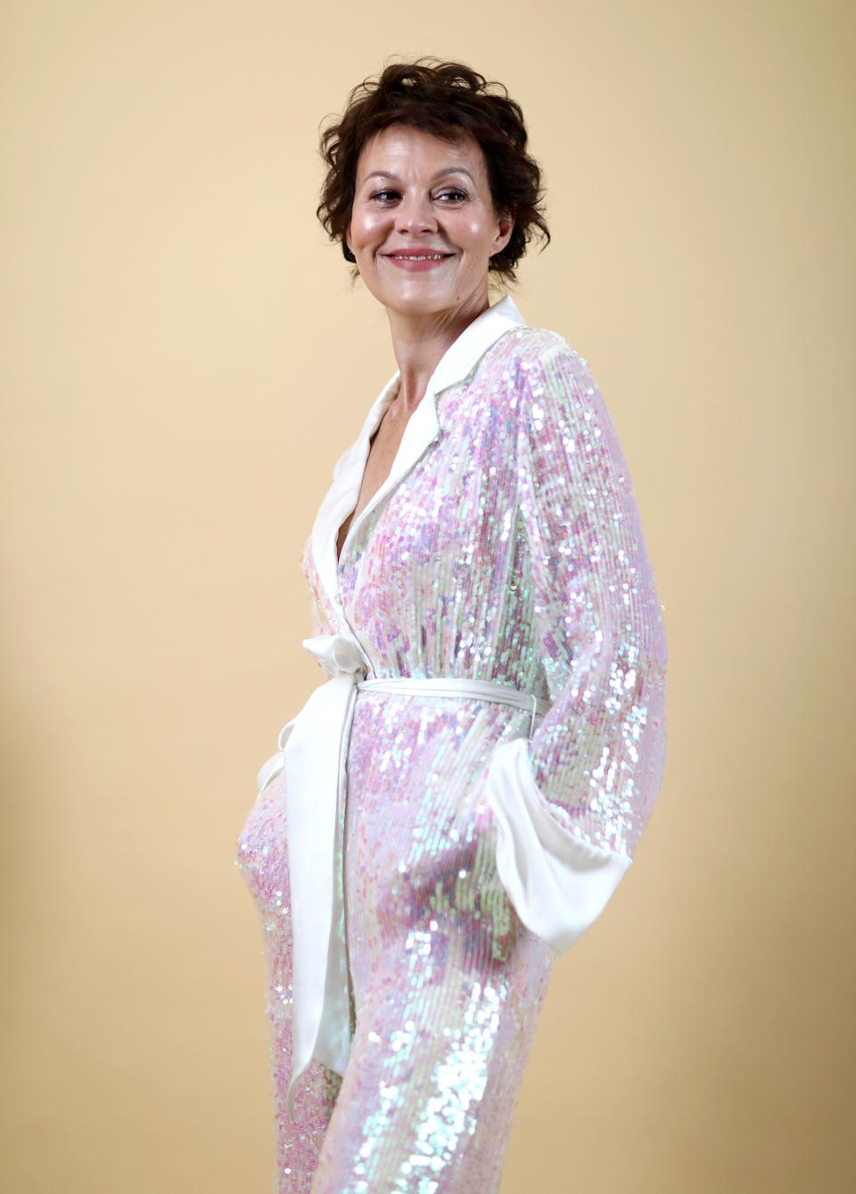 Helen McCrory backstage at London Fashion Week in 2018 (Photo: Tim Whitby/BFC via Getty Images)