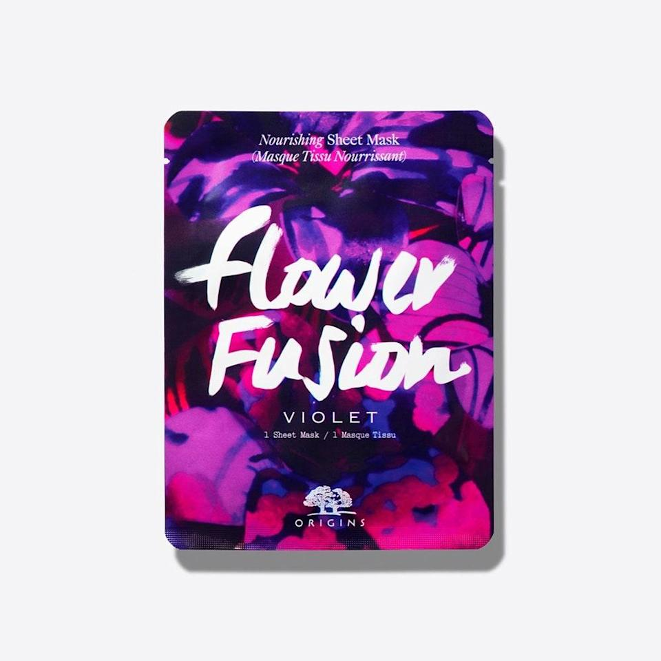 "<p>The flower wax that makes this sheet mask so moisturizing is a byproduct of essential-oil distillation. Sound like a relaxing, spa-like experience? It is, especially thanks to the violet scent you get to enjoy for the 10 minutes you'll wear the Flower Fusion Violet Nourishing Sheet Mask. And to keep with the botanical theme, even the material itself is made of bamboo.</p> <p><strong>$7</strong> (<a href=""https://shop-links.co/1701786444652745911"" rel=""nofollow noopener"" target=""_blank"" data-ylk=""slk:Shop Now"" class=""link rapid-noclick-resp"">Shop Now</a>)</p>"