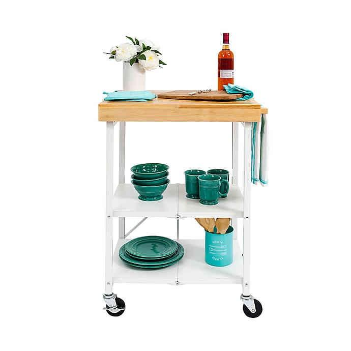 "<p>The <a href=""https://www.popsugar.com/buy/Origami-Foldable-Kitchen-Cart-478105?p_name=Origami%20Foldable%20Kitchen%20Cart&retailer=bedbathandbeyond.com&pid=478105&price=120&evar1=casa%3Aus&evar9=46482928&list1=shopping%2Cfurniture%2Cbed%20bath%20%26%20beyond&prop13=api&pdata=1"" rel=""nofollow"" data-shoppable-link=""1"" target=""_blank"" class=""ga-track"" data-ga-category=""Related"" data-ga-label=""https://www.bedbathandbeyond.com/store/product/origami-foldable-kitchen-cart/3325782?categoryId=14991"" data-ga-action=""In-Line Links"">Origami Foldable Kitchen Cart</a> ($120) really holds up to its name! The nifty cart can fold completely flat for days you need extra space.</p>"