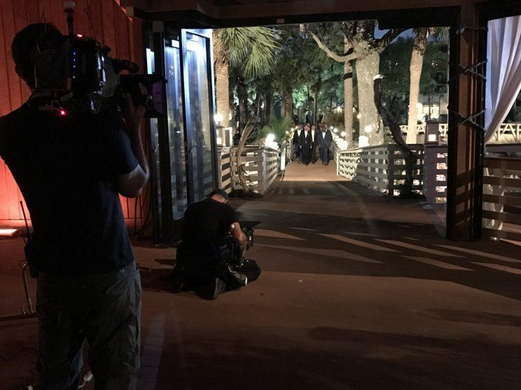 Behind the scenes before the rose ceremony. (Photo: Chris Harrison)
