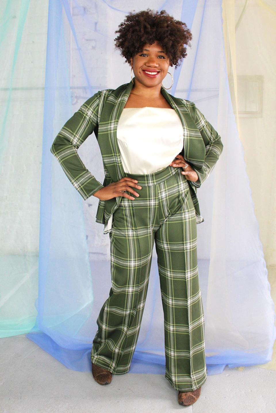 "<br><br><strong>Smart Glamour</strong> The Tommy Scuba Wide Leg Suit Pant, $, available at <a href=""https://go.skimresources.com/?id=30283X879131&url=https%3A%2F%2Fsmartglamour.com%2Fshop%2Fthe-tommy-scuba-wide-leg-suit-pant%2F"" rel=""nofollow noopener"" target=""_blank"" data-ylk=""slk:Smart Glamour"" class=""link rapid-noclick-resp"">Smart Glamour</a>"