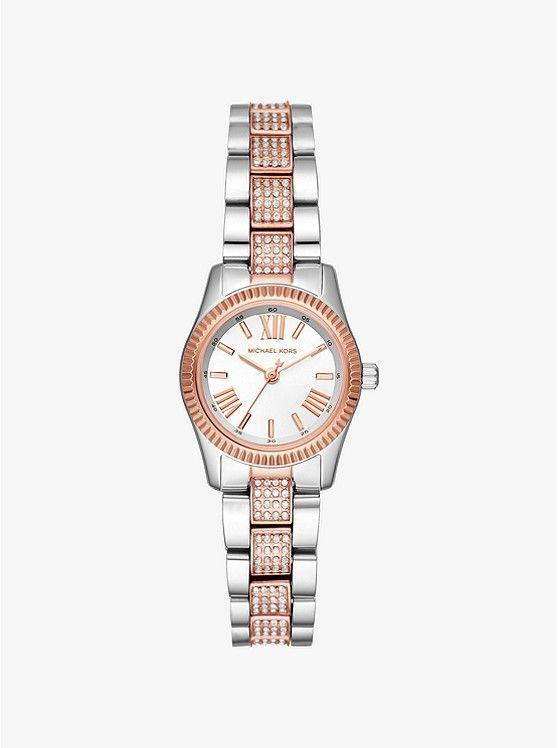 "<p><strong>Michael Kors</strong></p><p>michaelkors.com</p><p><strong>$169.00</strong></p><p><a href=""https://go.redirectingat.com?id=74968X1596630&url=https%3A%2F%2Fwww.michaelkors.com%2Fpetite-lexington-pav%25C3%25A9-two-tone-watch%2F_%2FR-US_MK3876&sref=https%3A%2F%2Fwww.marieclaire.com%2Ffashion%2Fnews%2Fg3961%2Fbest-watches-for-women%2F"" rel=""nofollow noopener"" target=""_blank"" data-ylk=""slk:SHOP IT"" class=""link rapid-noclick-resp"">SHOP IT</a></p><p>This silver and rose gold pavé style pairs perfectly with an all-black look. </p>"