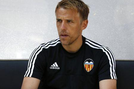 Football - FC Cologne v Valencia CF - Colonia Cup Pre Season Friendly Tournament - RheinEnergie Stadium, Cologne, Germany - 2/8/15 Phil Neville before the game Mandatory Credit: Action Images / Peter Cziborra Livepic