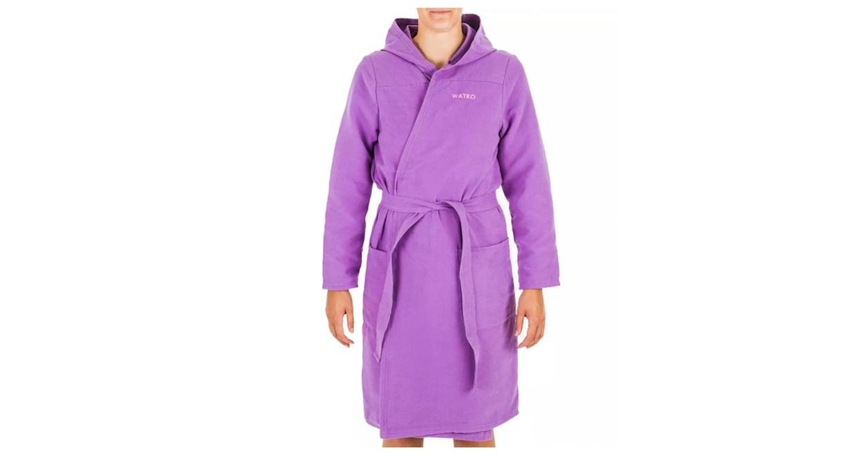 Decathlon's robe comes in three colours dark purple, purple and pink.  (Getty Images)