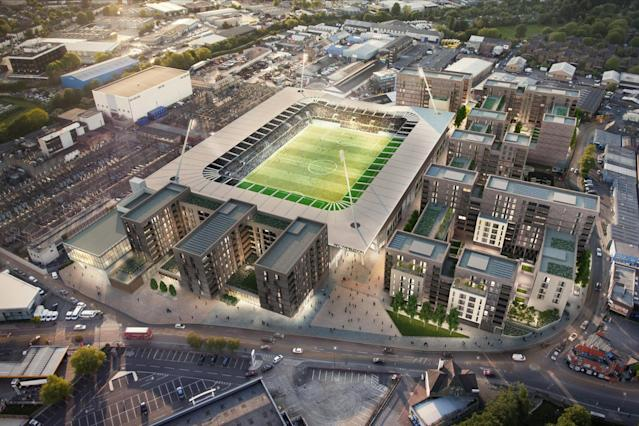 AFC Wimbledon new stadium: Dons face delay with work set to be finished midway through 2019-20 season