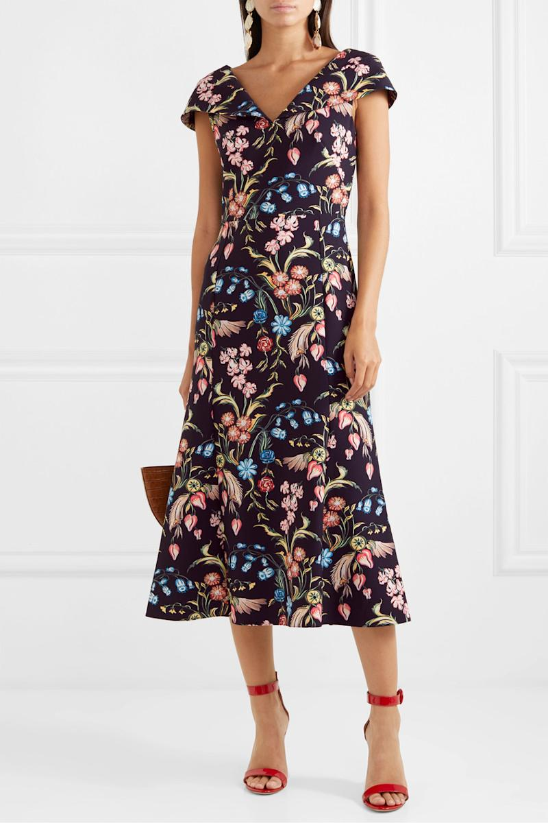 Floral-print cady midi dress by Peter Pilotto [Photo: Net-A-Porter]