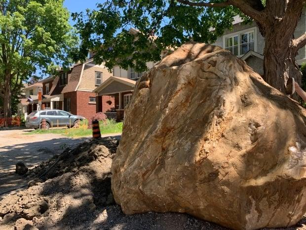 The rock has been named the 'Bellwood boulder,' and the city intends to move it — most likely to nearby Windsor Park.