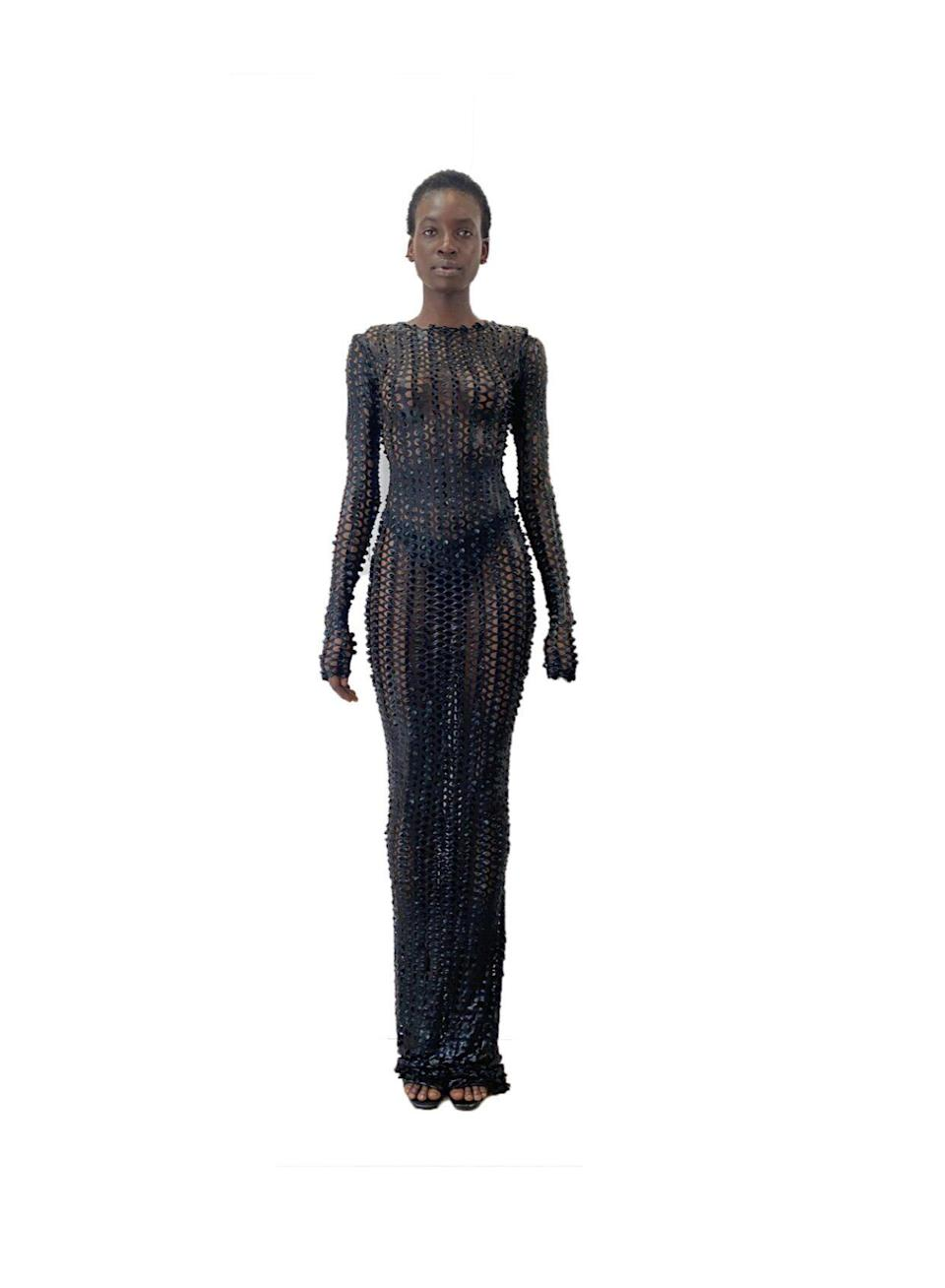"""<p><strong>TLZ </strong></p><p>tlzlf.com</p><p><strong>$198.00</strong></p><p><a href=""""https://www.tlzlf.com/new-collection/black-fishnet-floor-length-dress"""" rel=""""nofollow noopener"""" target=""""_blank"""" data-ylk=""""slk:Shop Now"""" class=""""link rapid-noclick-resp"""">Shop Now</a></p><p>Technically, you could wear this one in the summer over your bikini, but it'll also look fly during those end-of-the year parties.</p>"""