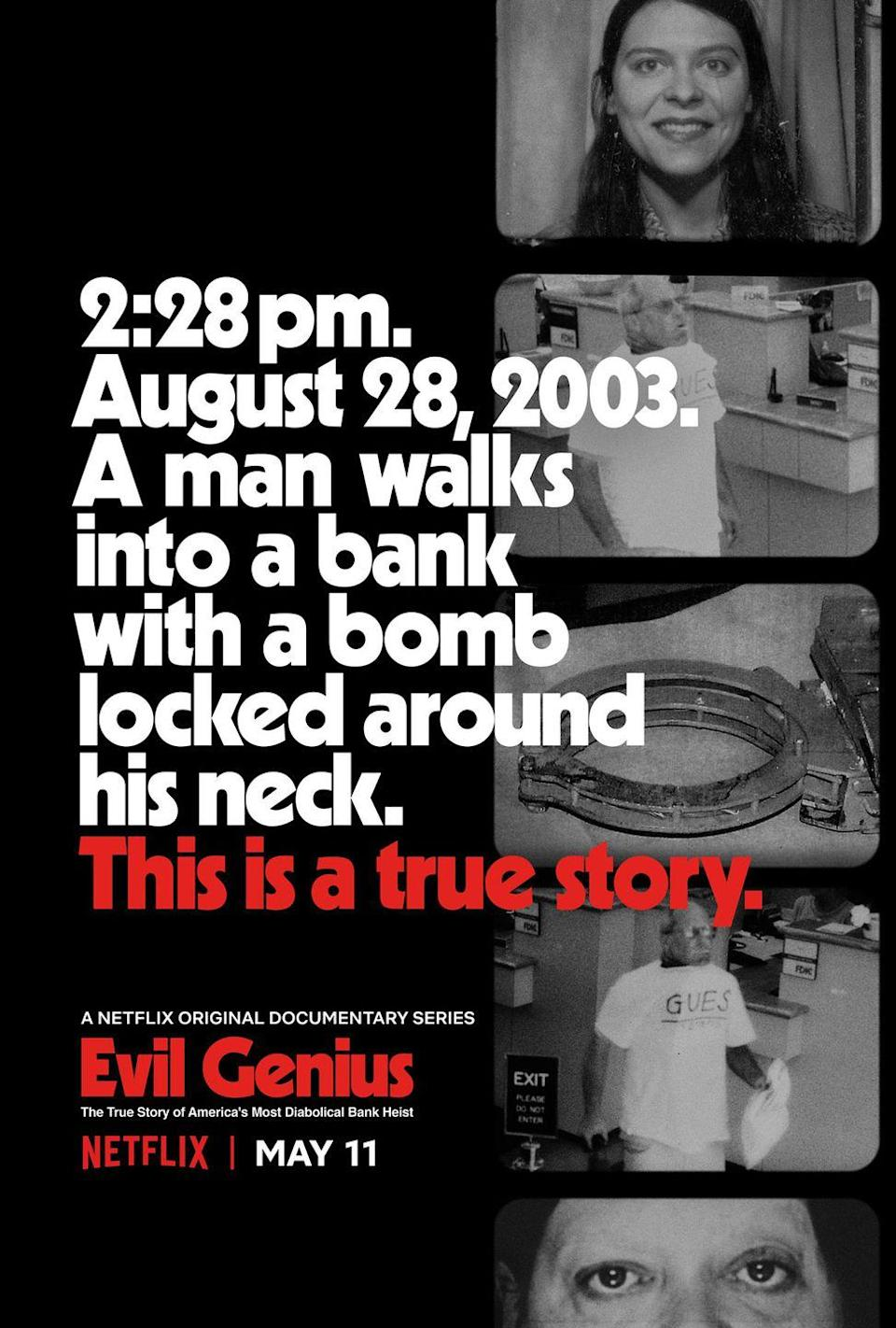 """<p>One day, a man walked into a bank with a bomb locked around his neck, demanding money. It sounds like a twisted twist on the """"A man walked into a bar…"""" joke, but with a not-so-funny ending. Spoiler alert: It, uh, didn't end well for him. And that was all before two more bodies mysteriously turned up. Even the police were like, """"WTF."""" Who's the """"evil genius"""" behind this dark game? You'll just have to watch to find out.</p><p><a class=""""link rapid-noclick-resp"""" href=""""https://www.netflix.com/title/80158319"""" rel=""""nofollow noopener"""" target=""""_blank"""" data-ylk=""""slk:Watch Now"""">Watch Now</a></p>"""