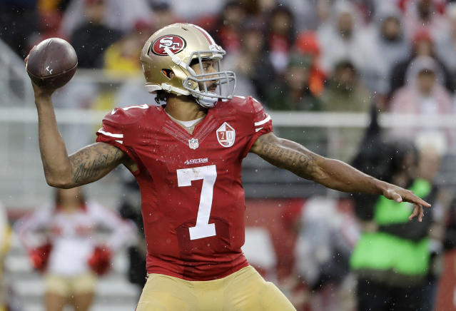 Colin Kaepernick last played in the NFL during the 2016 season. (AP Photo/Marcio Jose Sanchez)