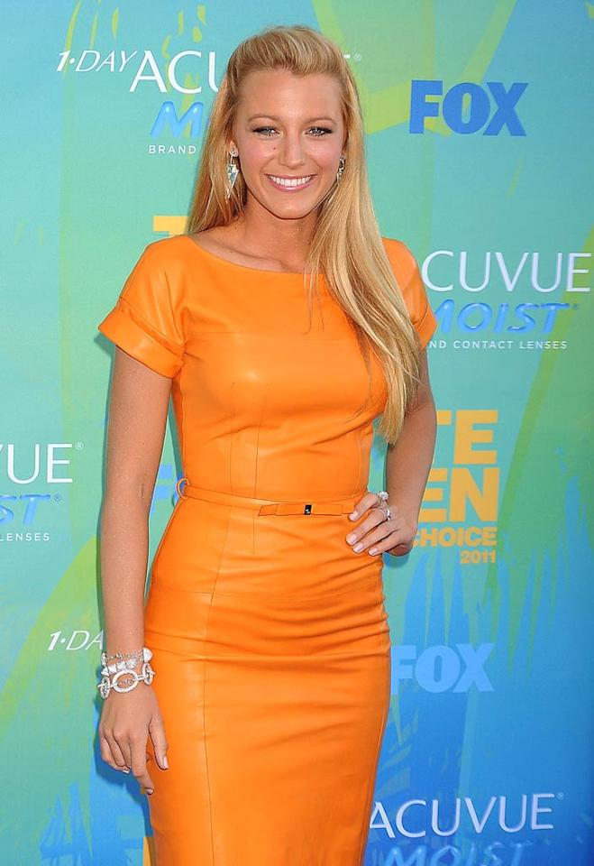 "Blake Lively (""Gossip Girl"") turns 24. Jeffrey Mayer/<a href=""http://www.wireimage.com"" target=""new"">WireImage.com</a> - August 7, 2011"